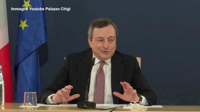 """Riaperture, Draghi: """"Voglio riaprire, ma bisogna farlo in sicurezza"""""""