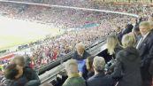 L'Italia e' campione d'Europa, l'esultanza di Mattarella in tribuna a Wembley