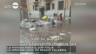 La pioggia piega il sud Italia