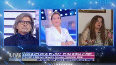 Serena Grandi e il caso del bacio a Chiambretti