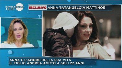 Anna Tatangelo e il figlio