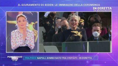 Il giuramento di Biden: Lady Gaga canta l'inno americano
