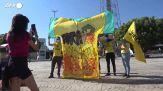 Copa America, in Brasile protesta con una maglia verdeoro insanguinata