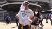 Festa Inter, Radicali Milano a San Siro per distribuire mascherine e gel