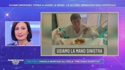 Gianni Morandi torna a usare le mani