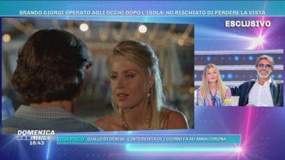 Il bacio cinematografico di Brando Giorgi e Valeria Marini