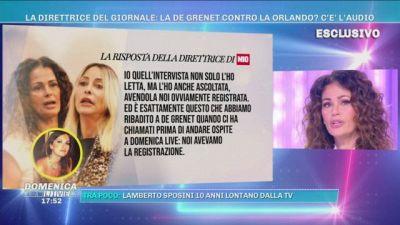 La De Grenet nega di aver attaccato Stefania Orlando - Ma c'è l'audio?