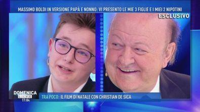 """Massimo Boldi nonno: """"Tanta roba""""!"""