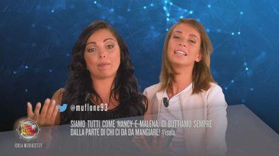 Il Twitter-pensiero su Eva Grimaldi, Nancy Coppola e Malena