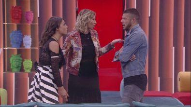 Alessandra, Giorgio e Francesca: il confronto