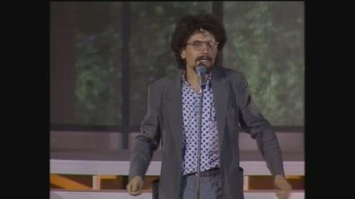 Natalino Balasso nel duo Peli Superflui a Cabaret per una notte 1986