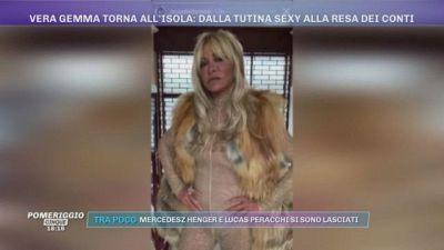 Vera Gemma torna all'Isola: dalla tutina sexy...