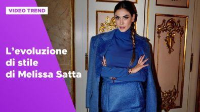 L'evoluzione di stile di Melissa Satta