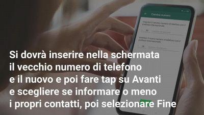 Come usare Cambia numero su Whatsapp