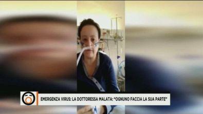 """Emergenza virus: la Dottoressa malata: """"Ognuno faccia la sua parte"""""""