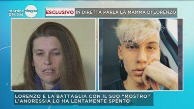Lorenzo morto di anoressia
