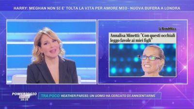 Annalisa Minetti: ''Con questi occhiali...