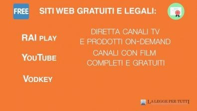 Dove vedere legalmente film in streaming su Internet