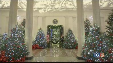 Melania Trump e gli addobbi di Natale alla Casa Bianca