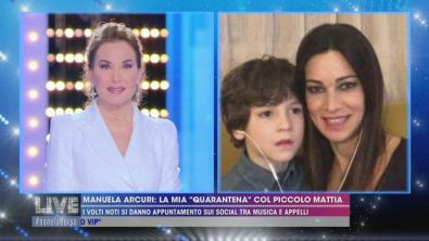 Manuela Arcuri col piccolo Mattia
