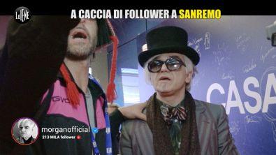 GABRA: Sanremo: a caccia di selfie e follower (e Morgan si arrabbia di nuovo!)