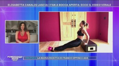 Elisabetta Canalis lascia i fan a bocca aperta