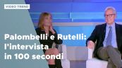 Barbara Palombelli e Francesco Rutelli: l'intervista in 100 secondi