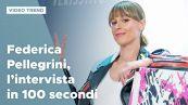 Federica Pellegrini, l'intervista in 100 secondi