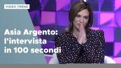 Asia Argento, l'intervista a Verissimo in 100 secondi
