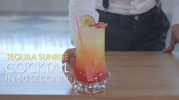 Cocktail in 60 secondi: Tequila sunrise