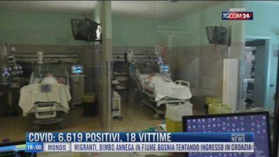 Breaking News delle 18.00 | Covid: 6.619 positivi, 18 vittime
