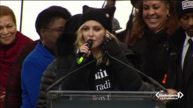 Madonna alla manifestazione contro Trump