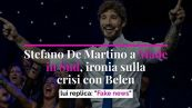 "Stefano De Martino a Made in Sud, ironia sulla crisi con Belen. Lui replica: ""Fake news"""