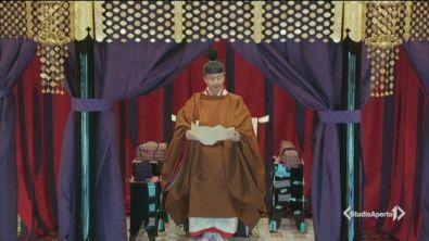 L'imperatore del Giappone sul trono