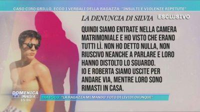 Caso Ciro Grillo, i verbali della ragazza