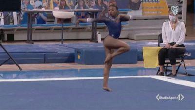 Lo spettacolo della ginnasta Nia Dennis