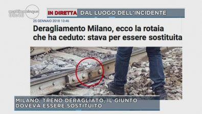 Milano, treno deragliato: la pista del binario