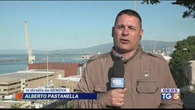 Nave con i migranti in arrivo a Genova
