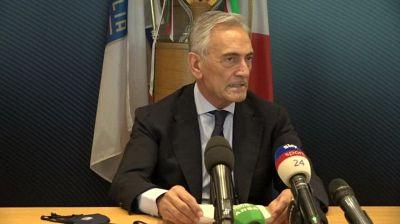 """Bus scoperto, Gravina: """"No a tensioni per vittoria Italia agli Europei"""""""