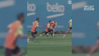 Messi è già pronto: che gol in allenamento