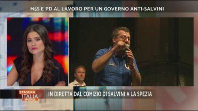 In diretta da la Spezia il comizio di Salvini