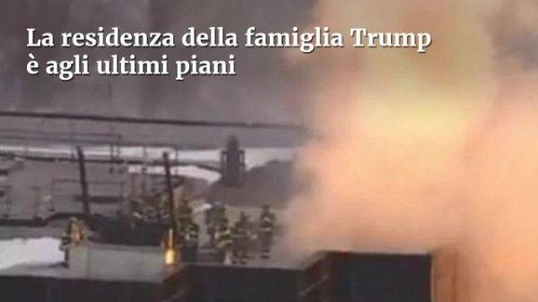 Incendio alla Trump Tower a New York