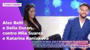 Alex Belli e Delia Duran contro Mila Suarez e Katarina Raniakova