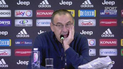 """Juventus, Sarri: """"Ci siamo potuti permettere il tridente per 60 minuti"""""""