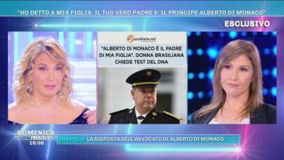 """""""Il padre di mia figlia è il Principe di Monaco"""", l'intervista esclusiva per Domenica Live"""