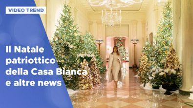 Le decorazioni di Natale patriottiche di Melania Trump e altre news dalle star
