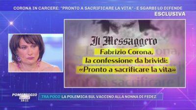 Fabrizio Corona in carcere - Sgarbi lo difende
