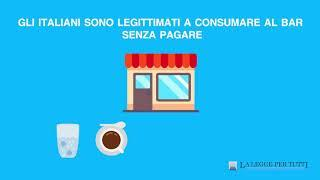 È possibile consumare gratis al bar?