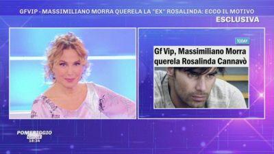 GFVip - Massimiliano Morra querela Rosalinda Cannavò