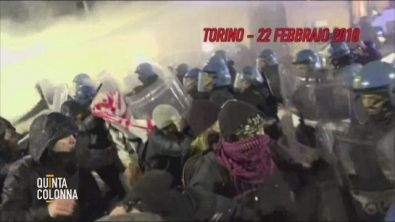 Sicurezza, scontri alle manifestazioni